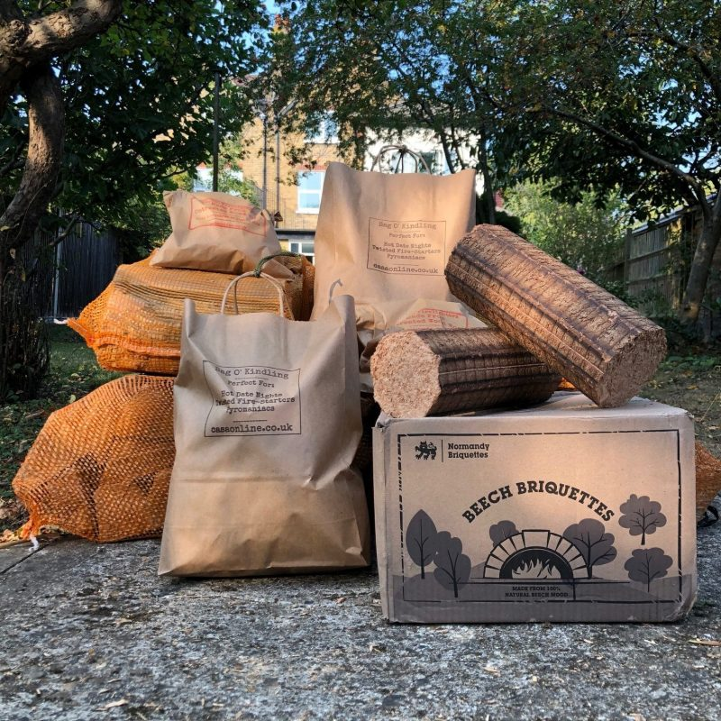 Wild Thing - For the Outdoor King. Logs for Wood burning stove package