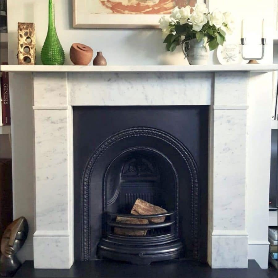Flat Victorian Mantelpiece in Carrara marble from the Casa of Peckham fireplace collection