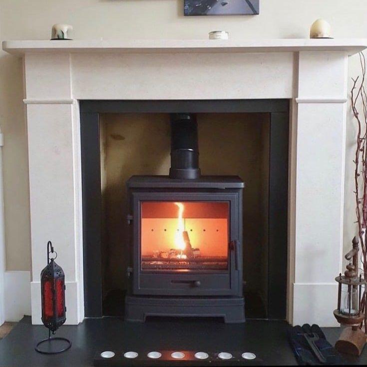 Bassington Eco stove with Baseline legs