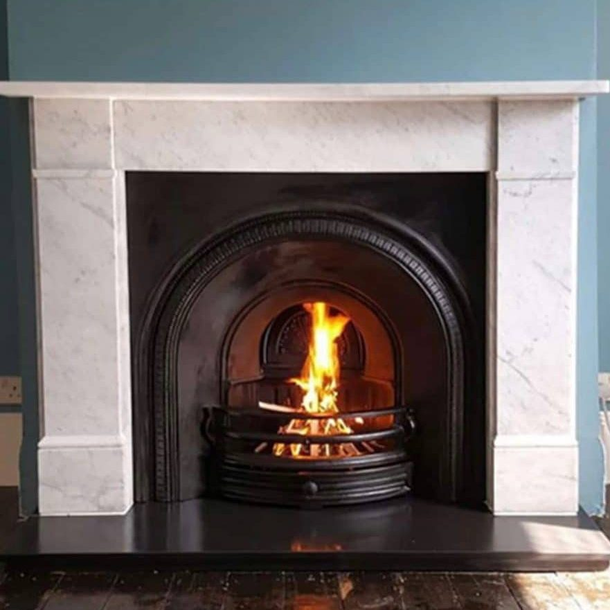 Picture of a Carrara Marble Flat Victorian Mantelpiece installed by Casa fireplaces in Beckenham BR3